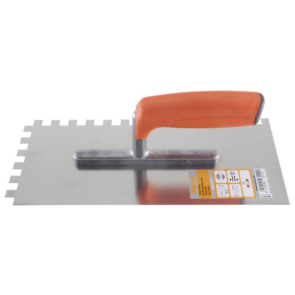 Frattone dentato KAPRIOL 10mm Inox 13x28cm