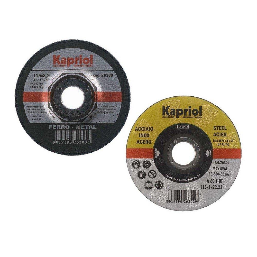 Disco da taglio materiali ferrosi KAPRIOL D115 – 3,2mm