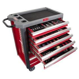 Carrello portautensili PROLINE 7 cassetti con kit di utensili 205 pezzi