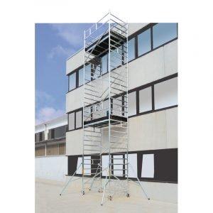 Ponteggio in alluminio STP Luxor altezza di lavoro 6.8m