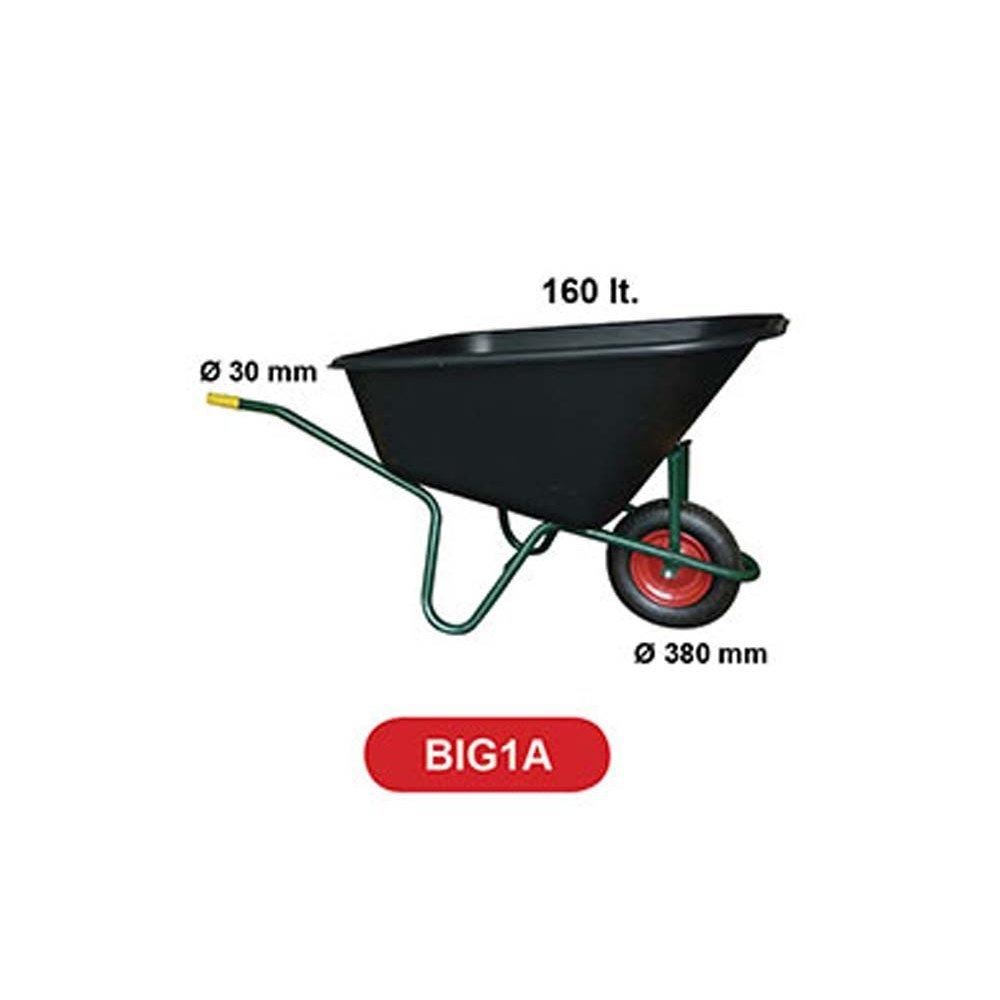 Carriola BPA BIG1A con vasca in PVC 160l