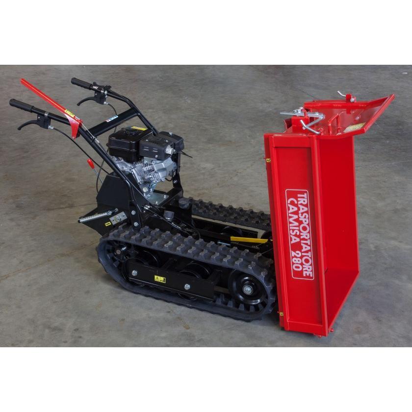 Motocarriola cingolata CAMISA TP 280 RI 400kg cassone estensibile
